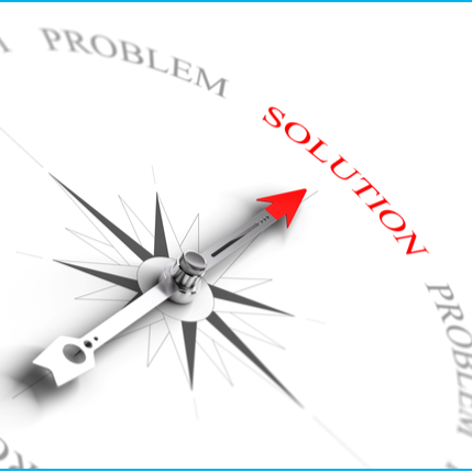 Solutions with blue border
